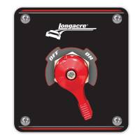 Switches - Master Disconnect Switches - Longacre Racing Products - Longacre High Capacity Battery Disconnect w/ Panel - 4 Terminal