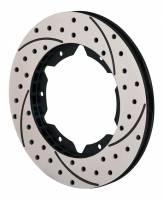 "Wilwood Rotors - Wilwood SRP Drilled Performance Rotors - Wilwood Engineering - Wilwood SRP Drilled Performance 11"" x .810"" Black LH Rotor"