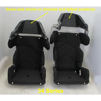 "Kirkey Racing Fabrication - Kirkey 34 Series Adjustable Child Containment Seat w/ Cover - 14"" - Image 7"