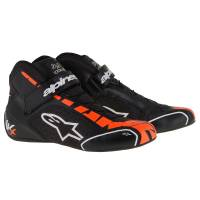 Racing Shoes - Kart Racing Shoes - Alpinestars - Alpinestars Tech 1-KX Karting Shoe - Black/White/Orange Fluo