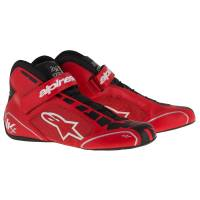 Racing Shoes - Kart Racing Shoes - Alpinestars - Alpinestars Tech 1-KX Karting Shoe - Red/Black/White