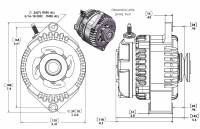 MechMan Alternators - MechMan S Series 170 Amp Racing Alternator - 63-85 GM - 1 Wire - Image 2