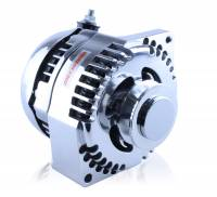 Ignition & Electrical System - MechMan Alternators - MechMan S Series 170 Amp Racing Alternator - 63-85 GM - 1 Wire - Chrome