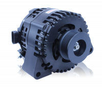 MechMan Alternators - MechMan S Series Billet 240 Amp Racing Alternator - C6 Corvette - Black Anodized