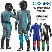 Kids Race Gear - Sparco - Sparco X-Light KS-7 Youth Karting Suit Package