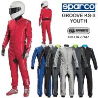 Kids Race Gear - Sparco - Sparco Groove KS-3 Youth Karting Suit Package