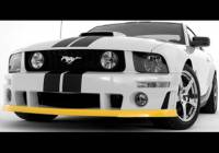 Body & Exterior - Roush Performance Parts - Roush Performance Parts Urethane Chin Spoiler Black Requires Roush Front Fascia Ford Mustang 2005-09