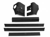 Bushwacker - Bushwacker Trail Armor Body Guard Front/Rear Corner/Rocker Panel/Hood/Lower Grill/Lower Tail Stick-On Plastic - Black