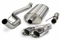 "Exhaust Systems - Ford Truck / SUV Exhaust Systems - Corsa Performance - Corsa Performance Sport Exhaust System Cat Back 3"" Diameter 4"" Tips - Stainless"