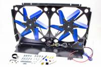 "Cooling & Heating - Perma-Cool - Perma-Cool Cool-Pack Electric Cooling Fan Dual 14"" Fan Puller 5900 CFM - Paddle Blade - 34 x 17"" Tall"