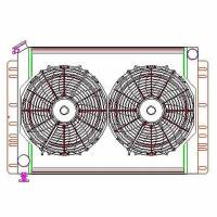 "Recently Added Products - Griffin Thermal Products - Griffin Thermal Products Direct Fit Radiator and Fan 22-1/2"" W x 19"" H x 2-11/16"" D Driver Inlet/Pass Outlet Alum - Natural"