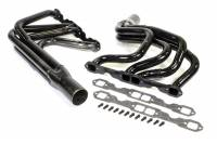 "Headers - Circle Track  - IMCA / UMP Modified Headers - Schoenfeld Headers - Schoenfeld Headers IMCA Modified Headers 1-5/8"" Primary 3"" Collector Steel - Black Paint"