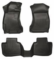 Floor Mats - Subaru Floor Mats - Husky Liners - Husky Liners Front/2nd Seat Floor Liner Weatherbeater Plastic Black - Subaru Impreza 2012-16