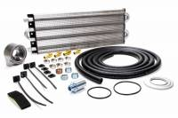 "Cooling & Heating - Perma-Cool - Perma-Cool Engine Oil System Fluid Cooler 21 x 7 x 1-1/2"" Tube Type 3/8"" NPT Female Inlet/Outlet - Adapter/Brackets/Hose"