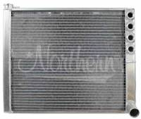 """Recently Added Products - Northern Radiator - Northern Radiator 20-1/2"""" W x 16-1/4"""" H x 2-1/4"""" D Radiator Passenger Inlet/Passenger Outlet Aluminum Natural - Sprint Car"""
