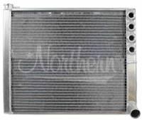 "Sprint Car Radiators & Components - Sprint Radiators - Northern Radiator - Northern Radiator 20-1/2"" W x 16-1/4"" H x 2-1/4"" D Radiator Passenger Inlet/Passenger Outlet Aluminum Natural - Sprint Car"