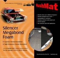 "Hushmat - Hushmat Silencer Megabond Sound Barrier 23 x 36"" Sheet 1/4"" Thick Foam - Black"