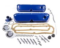 Recently Added Products - Trans-Dapt Performance - Trans-Dapt Performance Short Valve Covers/Breather/Dipstick/Gaskets/Water Neck Engine Dress Up Kit Steel Black Powder Coat Small Block Ford - Kit