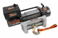 "Mile Marker - Mile Marker ES-Series Winch 15,000 lb Capacity Roller Fairlead 12 ft Remote - 25/64"" x 79 ft Steel Rope"