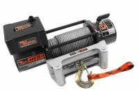 "Mile Marker - Mile Marker 12,000 lb Capacity Winch Roller Fairlead 12 ft Remote 3/8"" x 100 ft Steel Rope - 12V"