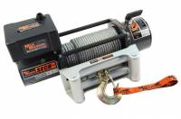 "Mile Marker - Mile Marker 8000 lb Capacity Winch Roller Fairlead 12 ft Remote 5/16"" x 100 ft Steel Rope - 12V"