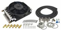 """Exhaust System - Derale Performance - Derale Performance 11 x 5-3/4 x 7/8"""" Fluid Cooler and Fan Plate Type 8 AN Male O-Ring Inlet/Outlet Fittings - Alum"""