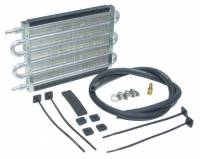 "Exhaust System - Perma-Cool - Perma-Cool Thin Line Fluid Cooler 12-1/2 x 7-1/2 x 3/4"" Tube Type 11/32"" Hose Barb Inlet/Outlet - Brackets/Hardware/Hose"