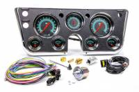 Classic Instruments - Classic Instruments G Stock Gauge Kit Analog Clock/Fuel /Oil Pressure/Speedometer/Tachometer/Voltmeter/Water Temp Black Face - GM Fullsize Truck 1967-72