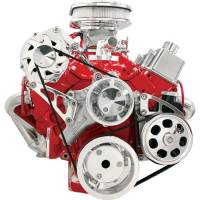 Serpentine Belt Drive Kits - Chevy Serpentine Pulley Systems - Billet Specialties - Billet Specialties Conversion Pulley Kit 6 Rib Serpentine Billet Aluminum Polished - Small Block Chevy