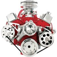 Engine Components - Billet Specialties - Billet Specialties Conversion Pulley Kit 6 Rib Serpentine Billet Aluminum Polished - Small Block Chevy