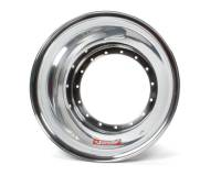 "Sander Wheels - Sander Wheel Halves - Sander Engineering - Sander Engineering Outer Wheel Shell 15 x 8"" Aluminum Polished - Each"