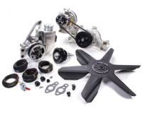 Pulley Kits - HTD Belt Pulley Kits - Jones Racing Products - Jones Racing Products HTD Pulley Kit Aluminum Black Anodized Small Block Chevy - Kit