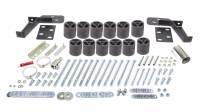 "Performance Accessories - Performance Accessories 3"" Lift Body Lift Front Bumper Brackets Hardware Nylon/Steel - Black/Zinc Oxide - GM Fullsize SUV 1995-99"