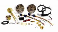 New Vintage USA - New Vintage USA Woodward Gauge Kit Analog Fuel Level/Oil Pressure/Speedometer/Tachometer/Voltmeter/Water Temperature Beige Face - Kit