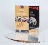 """Hushmat - Hushmat Ultra Door Kit Heat and Sound Barrier 12 x 12"""" Sheet 1/8"""" Thick Rubber - Silver"""