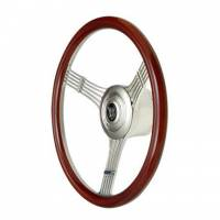 "GT Performance - GT Performance GT Retro Banjo Steering Wheel 15-1/2"" Diameter 3-Spoke 1-3/4"" Dish - Wood Grip"