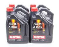 Recently Added Products - Motul - Motul 8100 X-Max Motor Oil 0W40 Synthetic 5 L - Set of 4