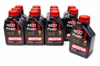Motul - Motul 4100 Power Motor Oil 15W50 Synthetic 1 L - Set of 12