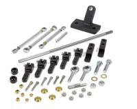 Throttle Linkage - Sprint Car Throttle Linkage Kits - Enderle - ENDERLE Side Mount Throttle Linkage Dual Quad Aluminum/Steel Black Anodize - Dominator Carburetors