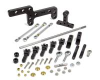 Sprint Car & Open Wheel - Enderle - ENDERLE Side Mount Throttle Linkage Dual Quad Aluminum/Steel Black Anodize - Square Bore Carburetors