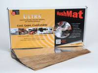 "Hushmat - Hushmat Ultra Floor/Dash Kit Heat and Sound Barrier 12 x 23"" Sheet 1/8"" Thick Rubber - Silver"