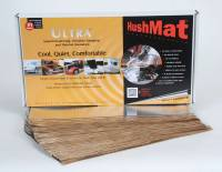 "Hushmat - Hushmat Ultra Bulk Kit Heat and Sound Barrier 12 x 23"" Sheet 1/8"" Thick Rubber - Silver"