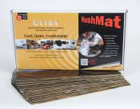 "Hushmat - Hushmat Ultra Bulk Kit Heat and Sound Barrier 12 x 23"" Sheet 1/8"" Thick Rubber - Black"