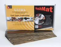 "Hushmat - Hushmat Ultra Bulk Kit Heat and Sound Barrier 12 x 23"" Sheet 1/8"" Thick Rubber - Black"