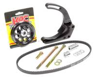 Recently Added Products - KRC Power Steering - KRC Power Steering Passenger Side Alternator Bracket Mid Mount 2 Piece Aluminum - Black Powder Coat