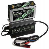 "Ignition & Electrical System - Braille Battery - Braille Battery Super-Sixteen Battery and Charger Kit Lithium 16 V 575 Cranking Amps - Top Post Screw"" Terminals"