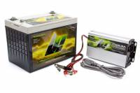 """Lithium Pros - Lithium Pros Lithium-Ion Power Pack Battery and Charger Kit 16V 750 Cranking Amps Top Post Screw"""" Terminals - 10.24"""" L x 6.38"""" H x 7.38"""" W"""