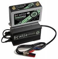 "Ignition & Electrical System - Braille Battery - Braille Battery Super-Sixteen Battery and Charger Kit Lithium 16V 675 Cranking Amps - Top Post Screw"" Terminals"