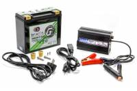 "Batteries and Components - Batteries - Braille Battery - Braille Battery Green-Lite Battery and Charger Kit Lithium 12 V 697 Cranking Amps - Top Post Screw"" Terminals"
