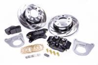 "Rear Brake Kits - Drag - Strange Pro Series Rear Disc Brake Kits - Strange Engineering - Strange Engineering Pro Race Brake System Rear 4 Piston Caliper 11-1/4"" Slotted Iron Rotor - Offset Hat - Ford 8.8"""